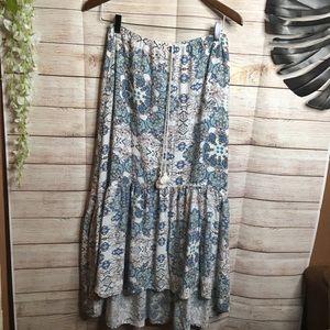Lovestitch boho high low skirt size M